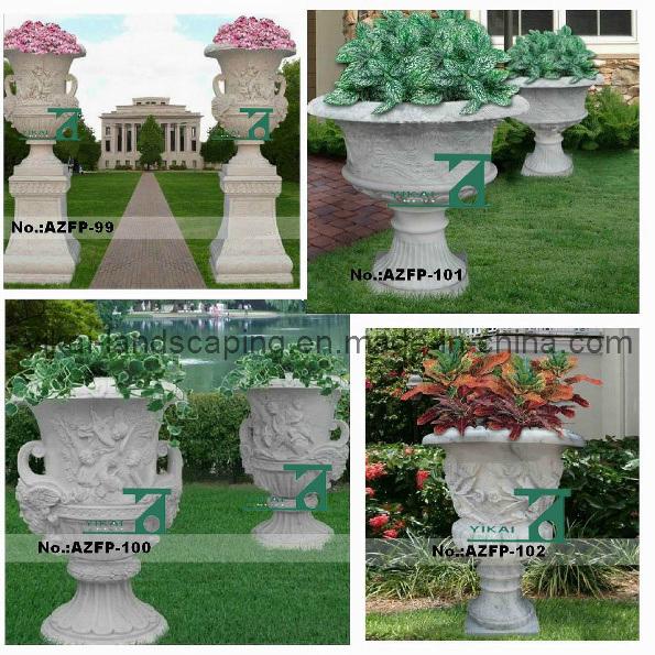 jardin en pierre flowerpot granite marble vase la main carved ykfp 01 jardin en pierre. Black Bedroom Furniture Sets. Home Design Ideas