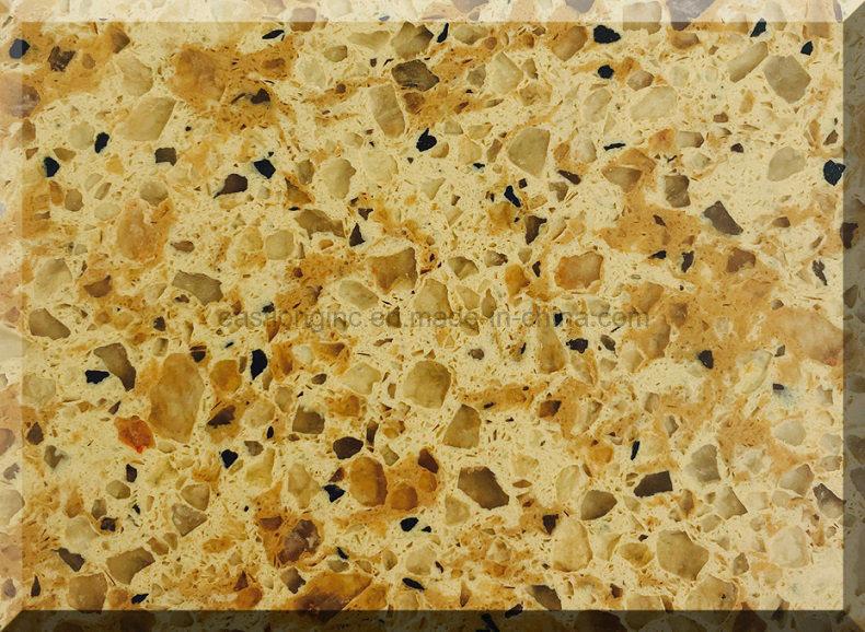 cuarzo de piedra artificial del color del mrmol del granito para la encimera de la cocina