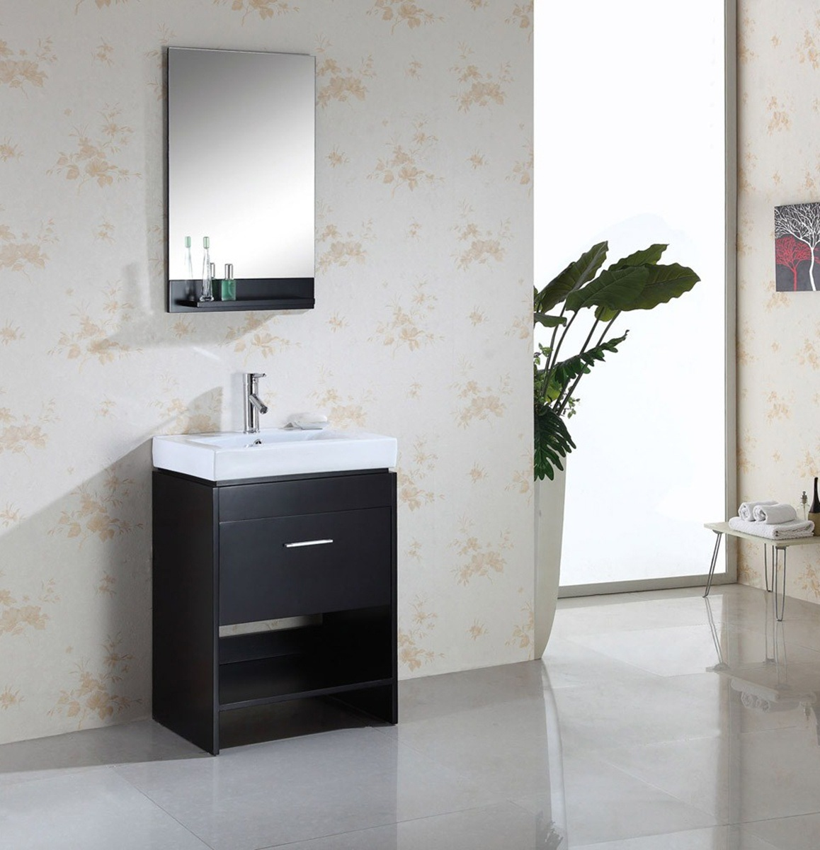 Armário de banheiro da madeira contínua/mobília/vaidade (MJ 272  #625D4E 1158 1200