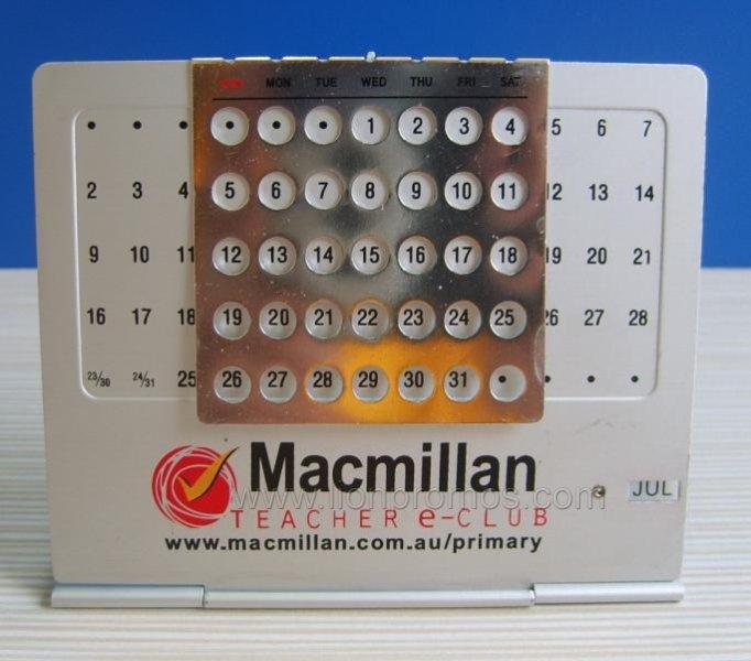 calendrier de bureau fait sur commande en m 233 tal d alliage d aluminium de logo calendrier de