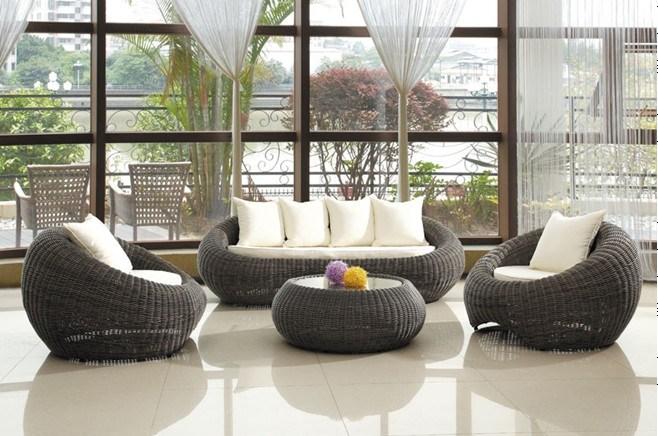 Alta calidad rattan jard n patio muebles de exterior for Muebles jardin rattan sintetico exterior