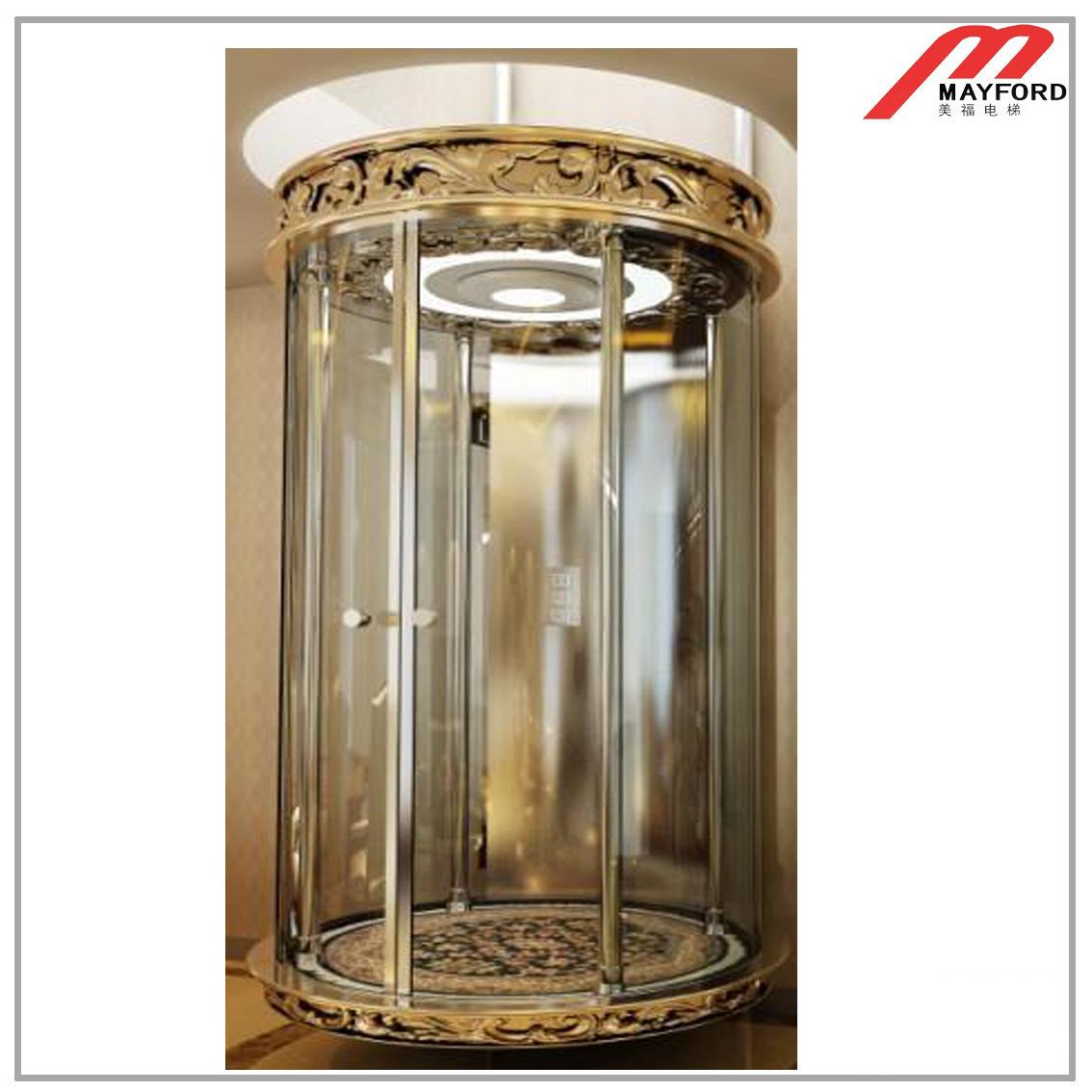 ascenseur de villa avec l 39 ascenseur de luxe de maison de mur de voiture ascenseur de villa avec. Black Bedroom Furniture Sets. Home Design Ideas