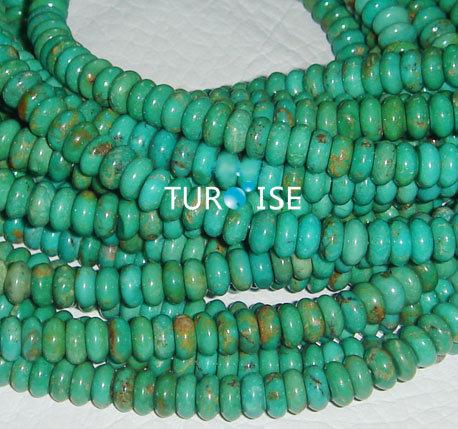 Piedra preciosa natural de rondel de la turquesa piedra for Piedra preciosa turquesa