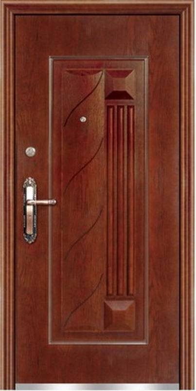 Puerta acorazada de madera de acero bcr sw 004 puerta for Pintura para puerta de madera exterior