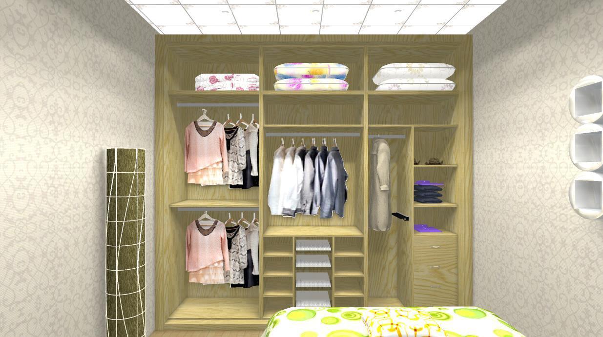 Armario de la madera para los dormitorios armario de la for Closet con espacio para tv