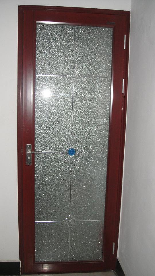 Puertas De Baño Aluminio:Puerta de aluminio abierta de la puerta del cuarto de baño sola
