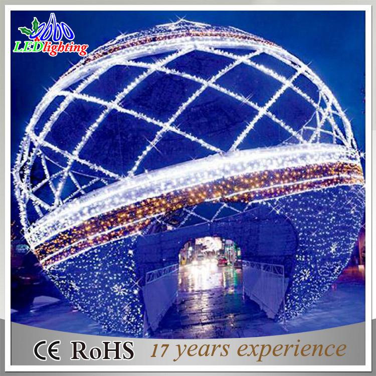 luces gigantes de la bola de la decoracin al aire libre artificial de la navidad del