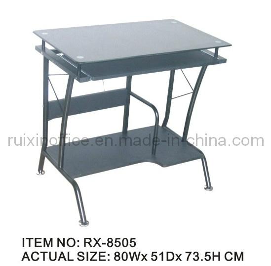Rectangulaire bois verre table d 39 ordinateur rx 8505 photo sur fr made i - Table ordinateur verre ...