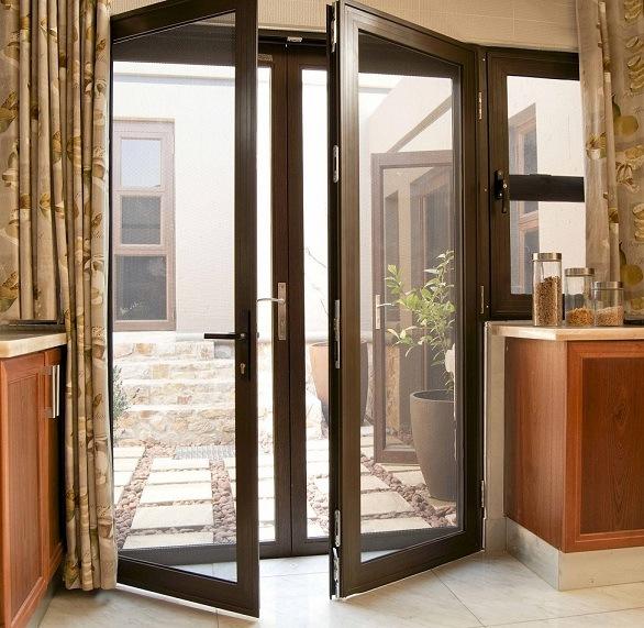 Trappe en aluminium de patio trappe en aluminium de patio - Puertas plegables exterior ...