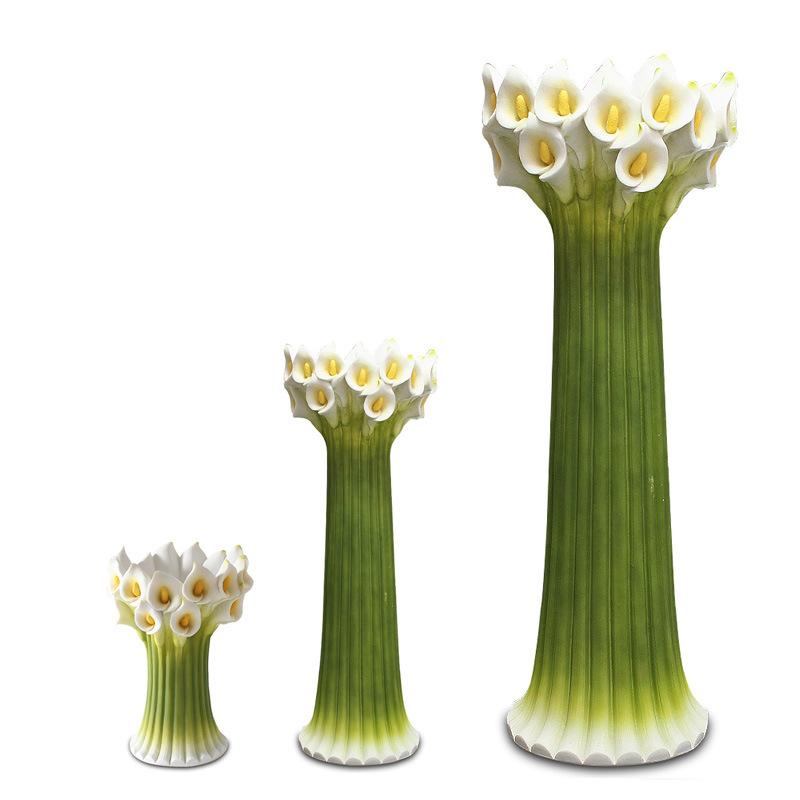 vase calla de gr s pour les fleurs artificielles pour la d coration la maison ou la. Black Bedroom Furniture Sets. Home Design Ideas