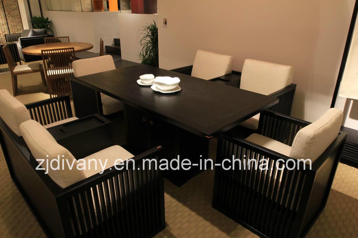 신 중국 작풍 단단한 나무 식당 테이블 세트에사진 kr.Made-in-China.com