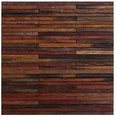 Peque o mosaico de madera oblongo peque o mosaico de - Mosaico de madera ...