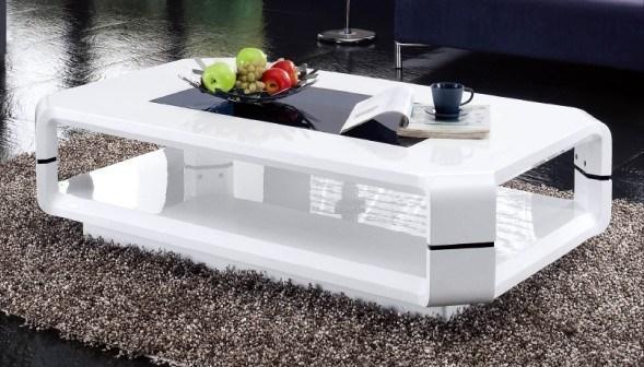 Tavolino da salotto bianco lucido 058 tavolino da for Salotto bianco