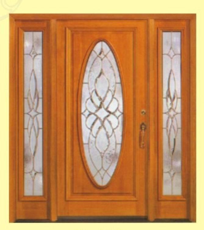 Entrada puerta de madera interior con el vidrio sl 003 - Puertas de madera de entrada ...