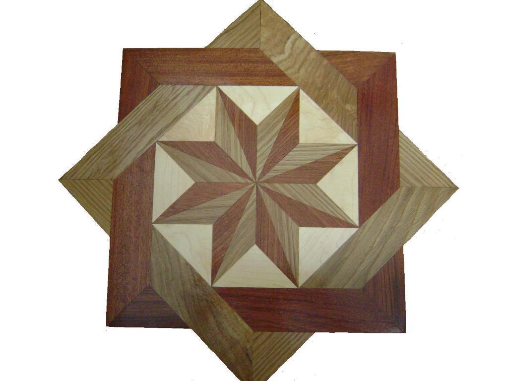 Mosaico de la marqueter a de la chapa mosaico de la - Mosaico de madera ...
