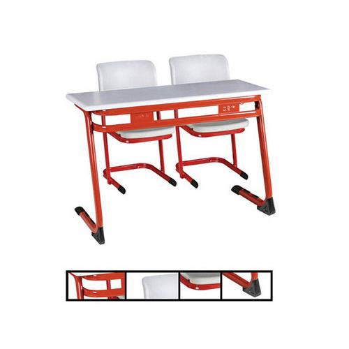 Schoolbank en stoel het meubilair van de school het bureau van de buis van het staal - Meubilair van de ingang spiegel ...