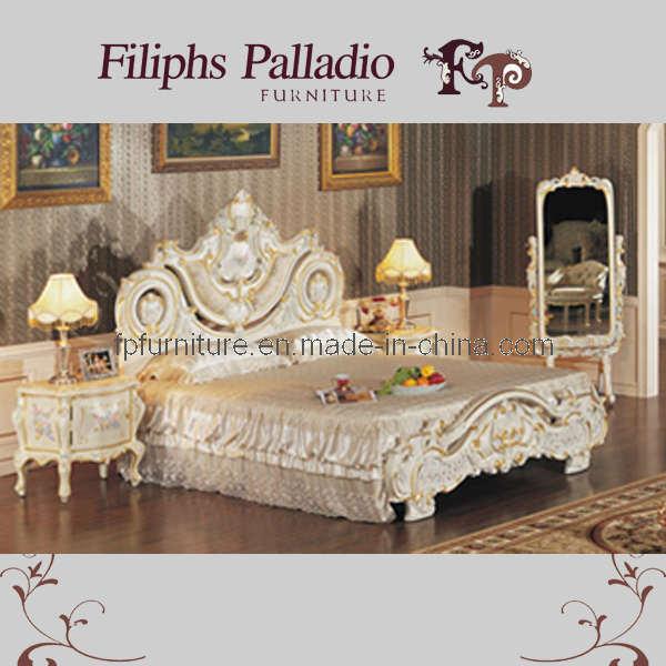 Het franse provinciale klassieke meubilair van de slaapkamer klassiek bed 0614 het franse - Klassiek bed ...