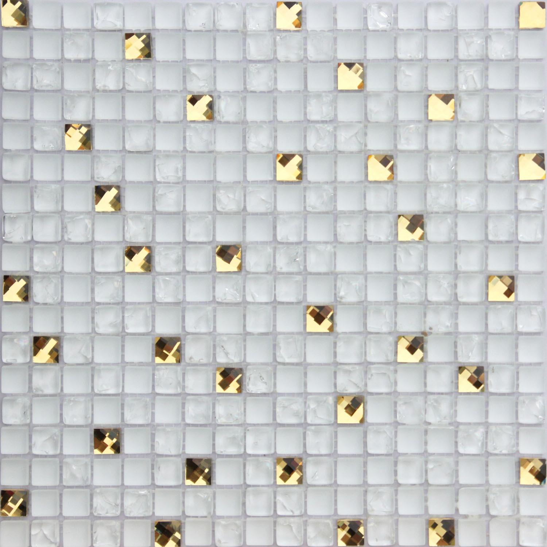 Azulejos de mosaico mezclados del vidrio y del espejo - Azulejos de cristal ...