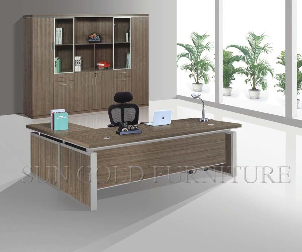 escritorio ejecutivo del vector moderno rectangular de los muebles de oficinas de la ldimensin