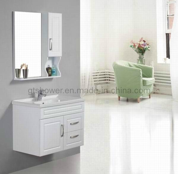 Gabinete Para Baño Madera:de cuarto de baño de madera blanco (GD9579) – Pequeño gabinete de