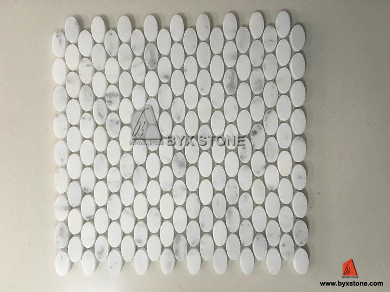 Het nieuwe moza ek van de lantaarn van het ontwerp witte marmeren voor badkamers en keuken foto - Mozaiek ontwerp ...