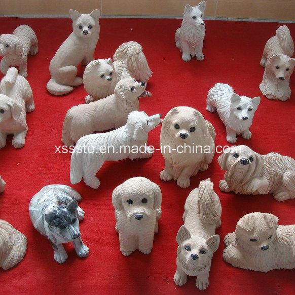 Estatua de piedra de la escultura de los perros del jard n for Ahuyentar perros del jardin