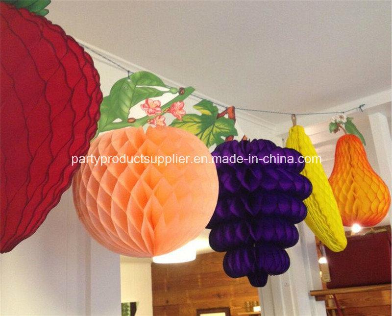 Foto de decoraciones de papel del panal de la fruta para - Decoraciones de papel ...