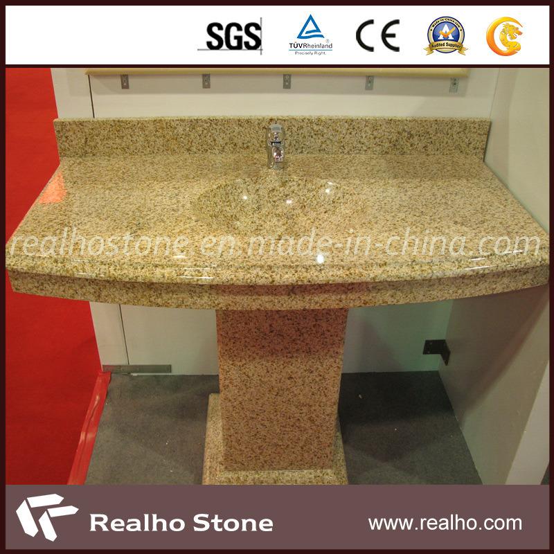 encimera amarilla del granito para la cocinael cuarto de bao