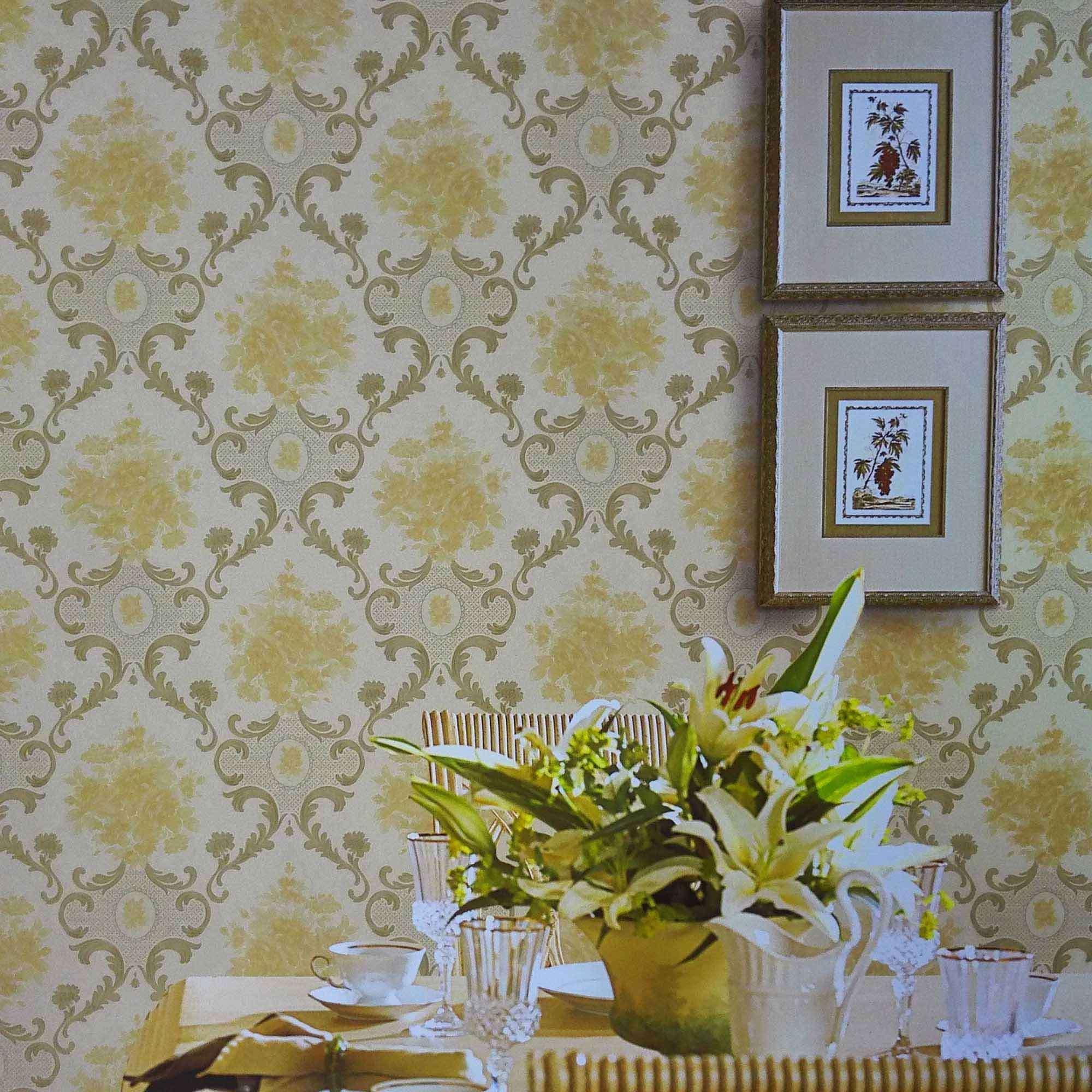 Papel pintado cl sico del pvc del dise o para las paredes - Papel pintado aislante termico ...