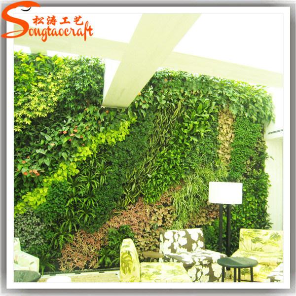 Foto de decoraci n de la pared artificial planta sint tico - Decoracion de paredes en verde ...