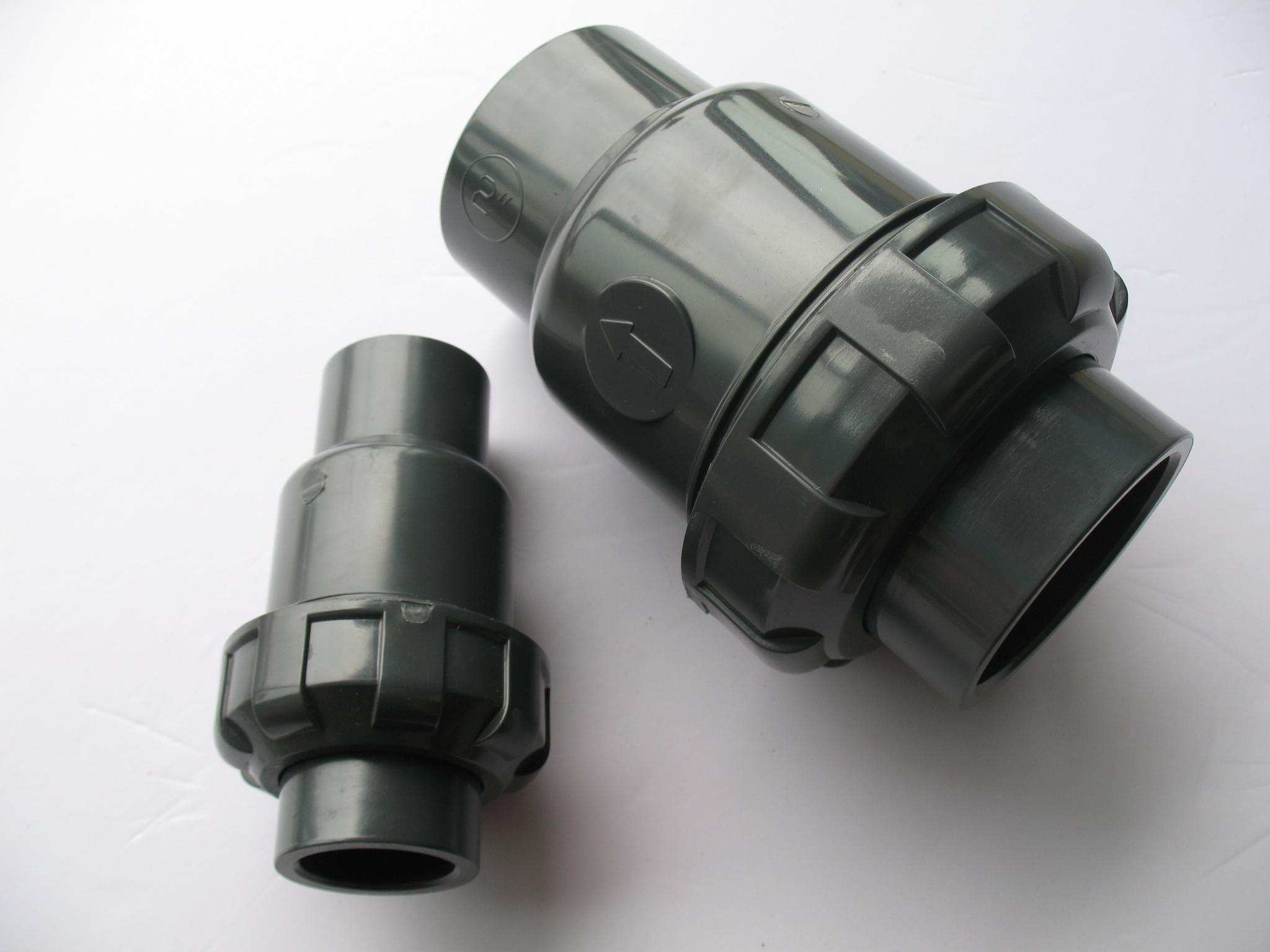valve simple du clapet anti retour upvc de boule de pvc avec la taille de dn25 1 valve. Black Bedroom Furniture Sets. Home Design Ideas
