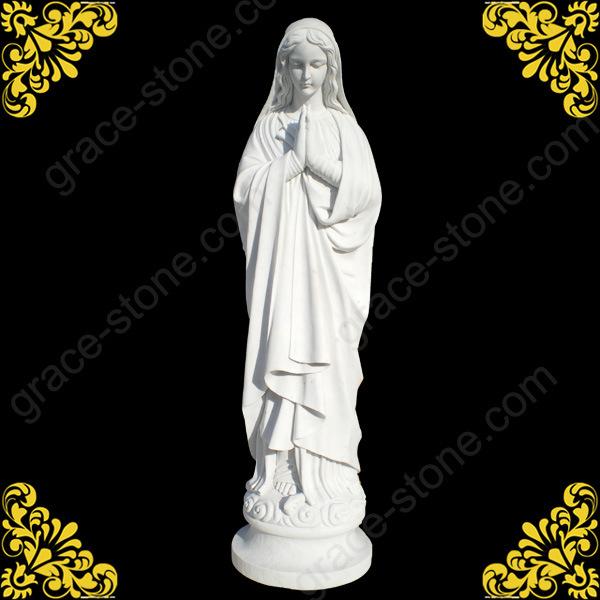 Vierge marie gs s 093 de marbre statue vierge marie gs for Statue vierge marie pour exterieur