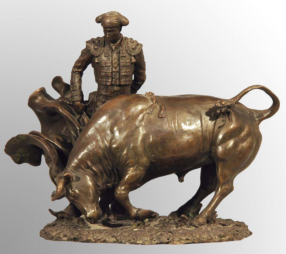 statue en bronze de combat de taureau tpx 0781 jpg. Black Bedroom Furniture Sets. Home Design Ideas