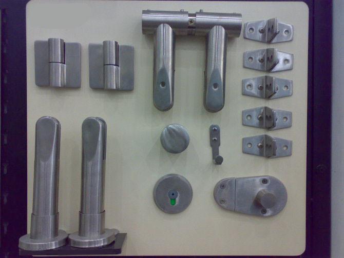 Acero inoxidable sistemas de partici n de ba o hardware for Set de bano acero inoxidable