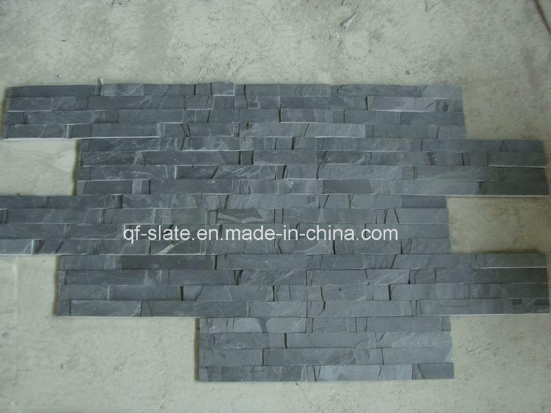 Pietra nera naturale del pannello di rivestimento della parete del fungo della bramma di 100% ...