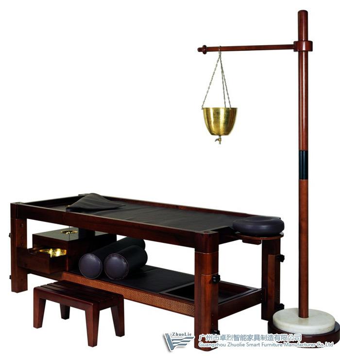 Tableau en bois 08d01 de massage dAyurveda –Tableau en bois 08d01 de mas