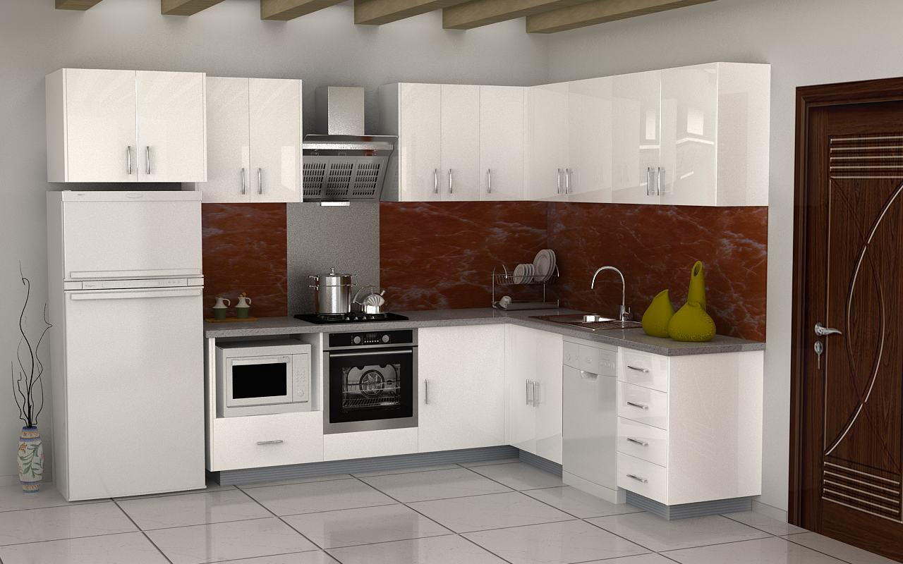 Gabinete de cocina del mdf de los dise os simples del for Gabinetes de cocina en mdf