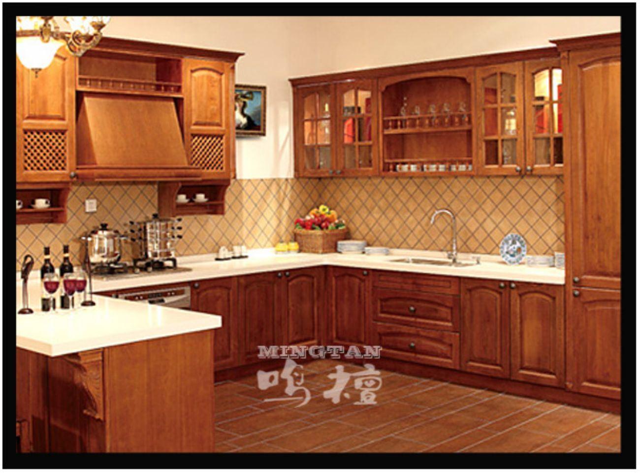 gabinete de cocina lujoso de madera s lida rlk 005