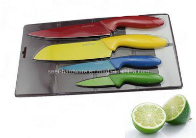 couteau de cuisine en plastique color de la poign e 4pcs r gl se 3548 couteau de cuisine en. Black Bedroom Furniture Sets. Home Design Ideas