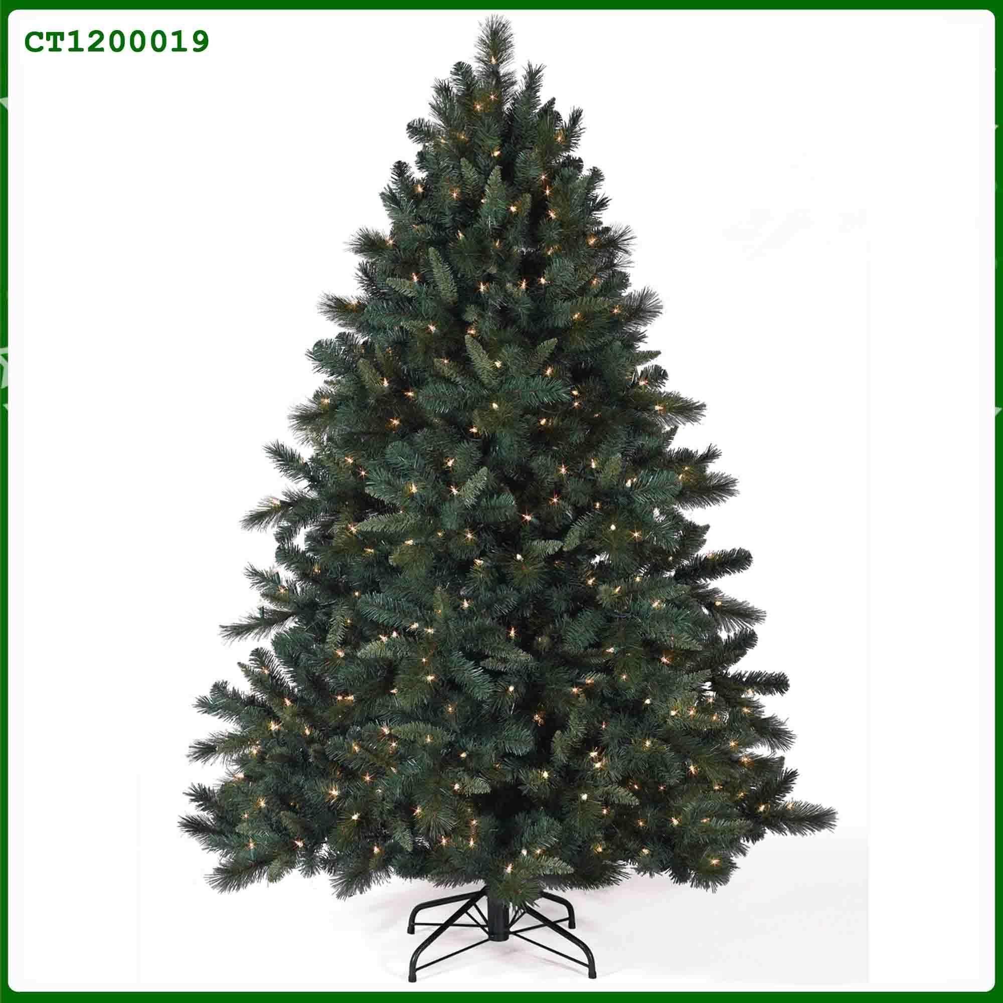 Rbol de navidad mezclado de color verde oscuro del pre for Arbol navidad verde