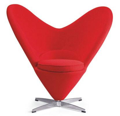 Sedia del cono del cuore di Verner Panton (CONO del CUORE) – Sedia ...