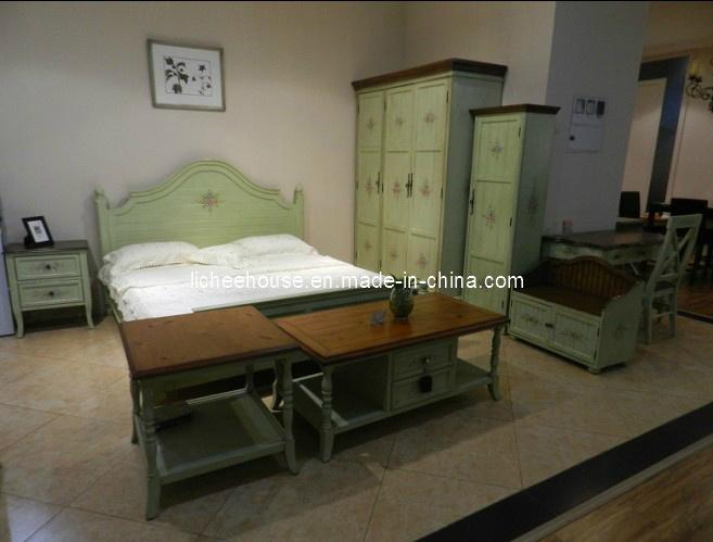 Groen stevig houten klassiek bed hy9003b groen stevig houten klassiek bed hy9003b doorever - Klassiek bed ...