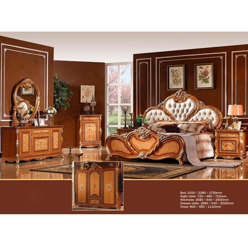 Chambre à coucher chinoise Furniture dAntique avec Fabric Bedhead ...