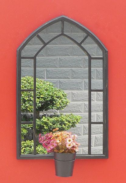De decoratieve hangende spiegel van de muur van de tuin van het glas van het metaal pl08 34181 - Decoratieve spiegel plakken ...
