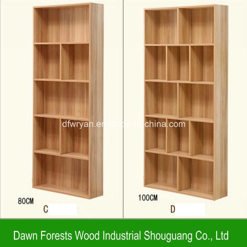 Foto de estante para libros del tablero de part cula de la for Libro de muebles de melamina