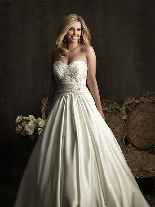 robe de mariage de satin de &Highquality (041) –A - ligne robe de ...