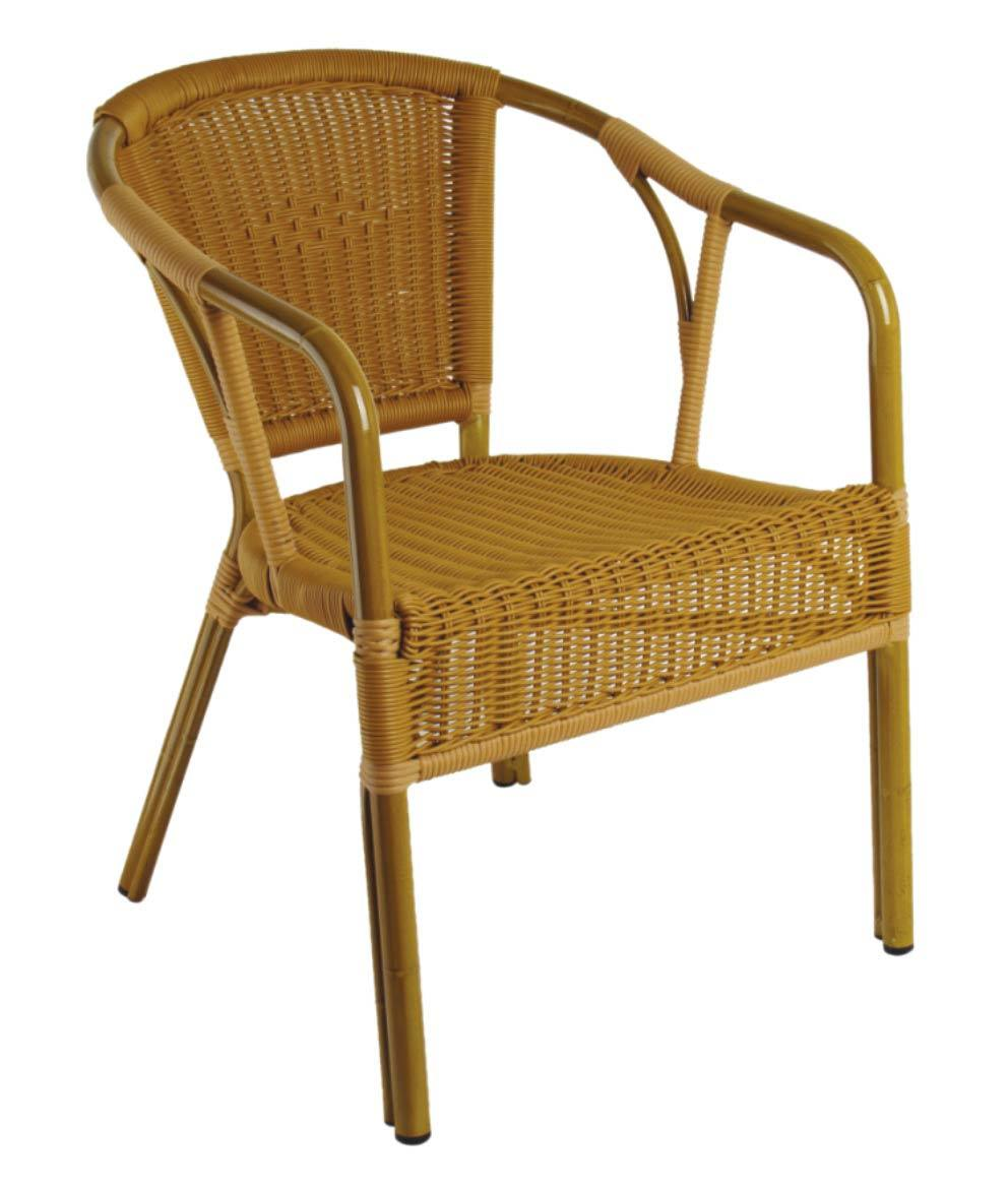 Bamboe van outdoor van de stoel van de tuin het rieten for Stoel tuin
