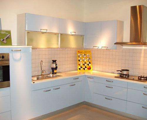 Muebles blancos de la cocina del pvc muebles blancos de for Muebles de cocina blancos