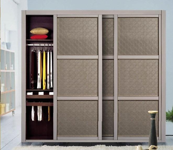 Porte coulissante de cuir d 39 unit centrale pour la garde robe 2629 14 porte coulissante de - Porte garde robe coulissante mesure ...