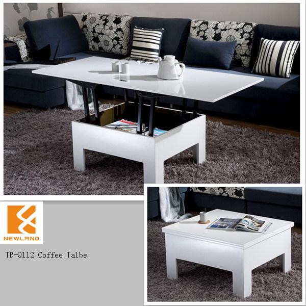 Tavolino da salotto bianco funzionale moderno di lucentezza di ...